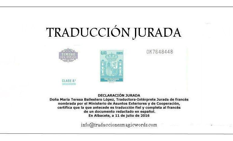 Traducción Jurada - Blog traduccionesmagicwords
